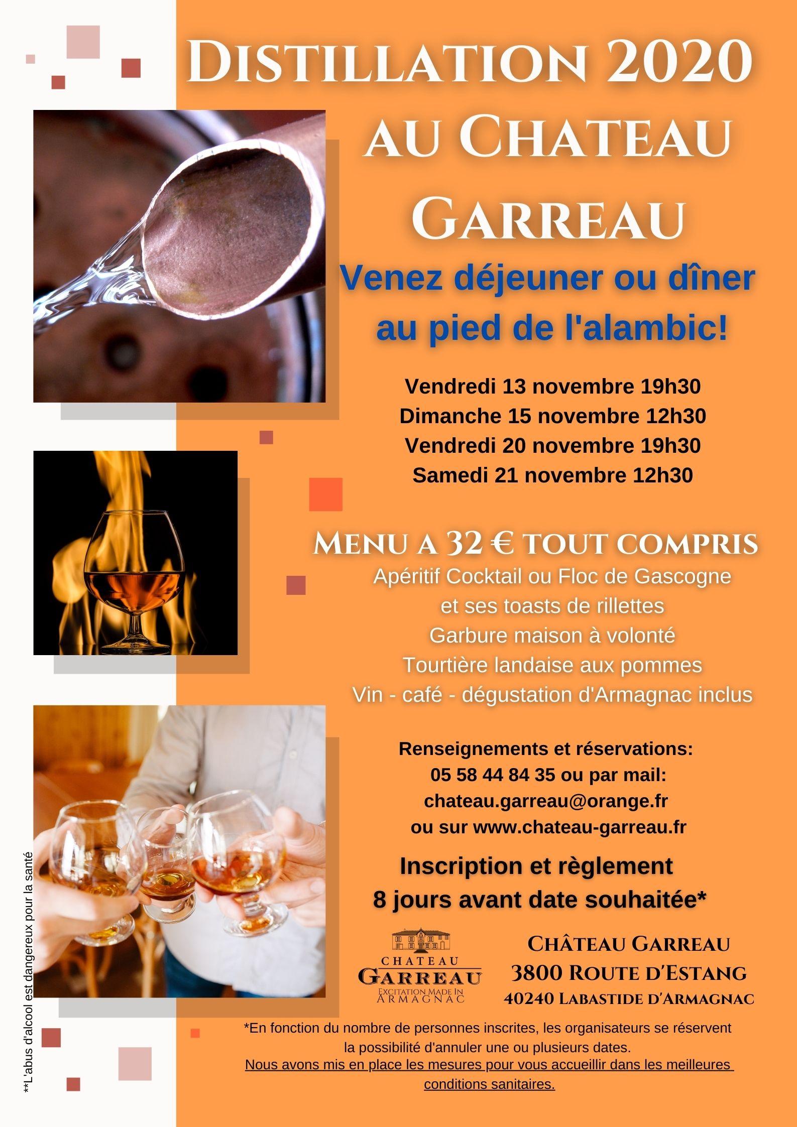 Distillation 2020 Armagnac Château Garreau Labastide d'Armagnac