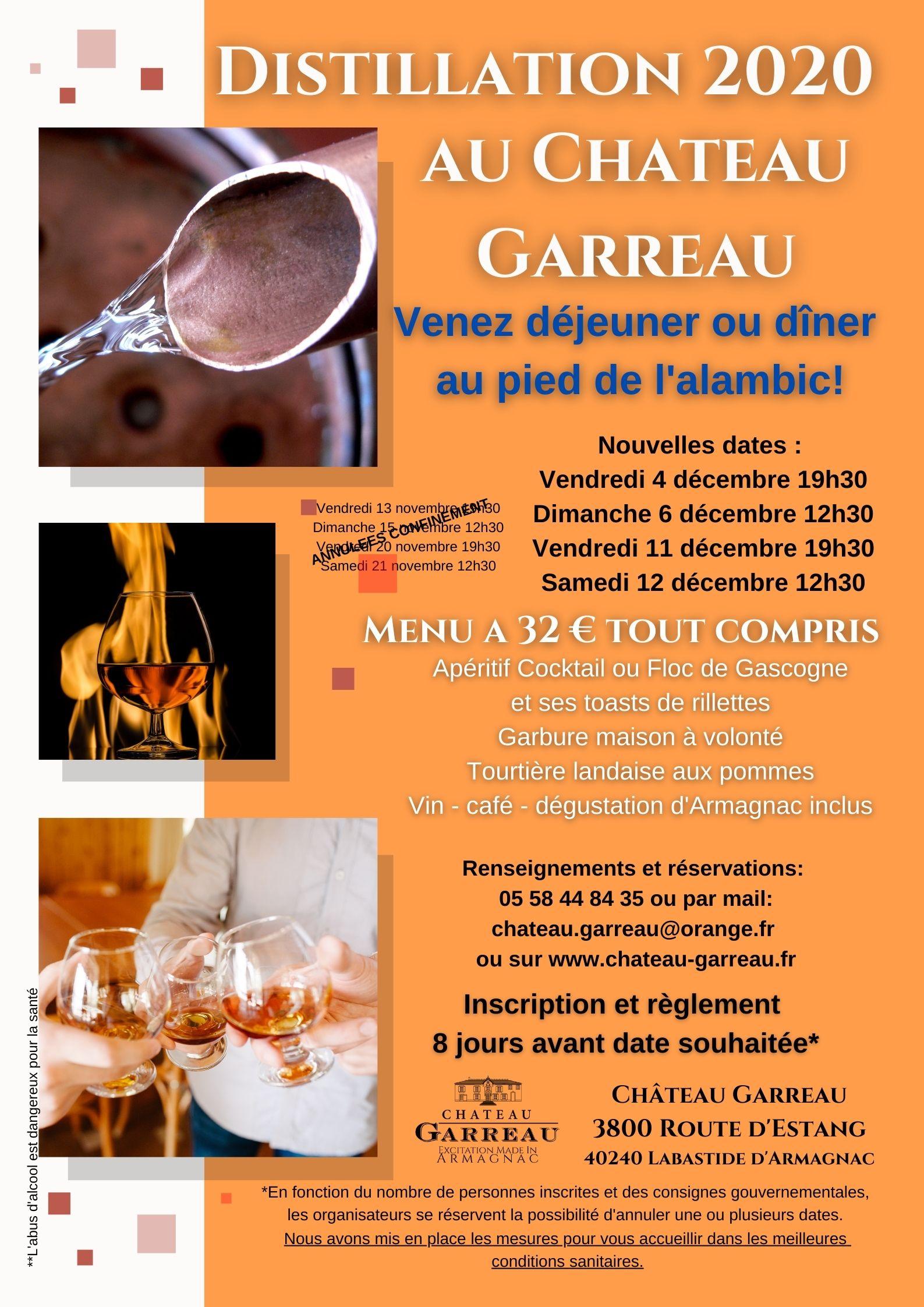 Distillation Chateau Garreau Labastide d'Armagnac